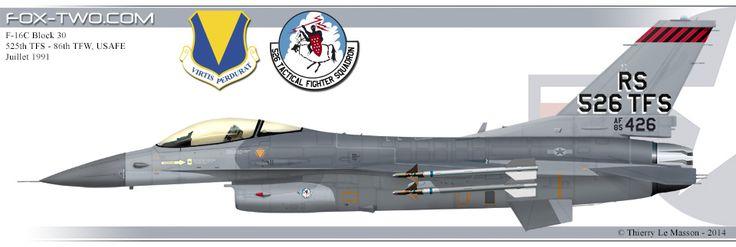 Profil d'un F-16C Block 30 du 526th TFS de l'US Air Force