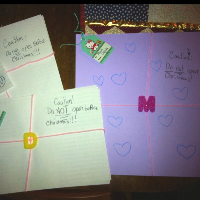 Cayla's gifts to us are finished.