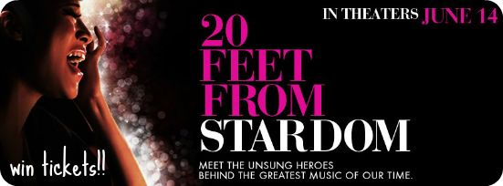 Giveaway – Tickets to See 20 Feet From Stardom http://www.turntherecordover.com/2013/06/giveaway-tickets-to-see-20-feet-from-stardom/