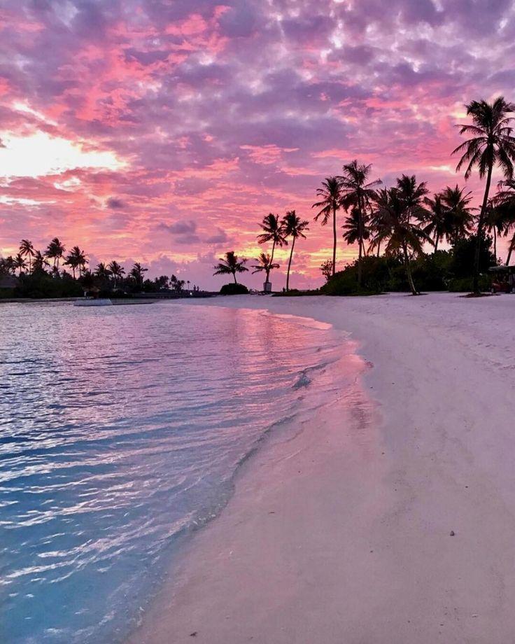 Zuckerwatte Sonnenuntergang, Malediven von Stop verschwenden Geld, indem Sie nic…