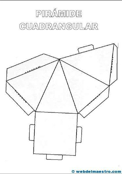 M s de 25 ideas fant sticas sobre cuerpos geometricos para for Sillas para armar y recortar