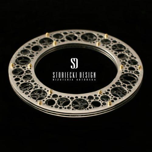 NEURONY- bransoleta srebrna okrągła Biżuteria Bransolety stobieckidesign