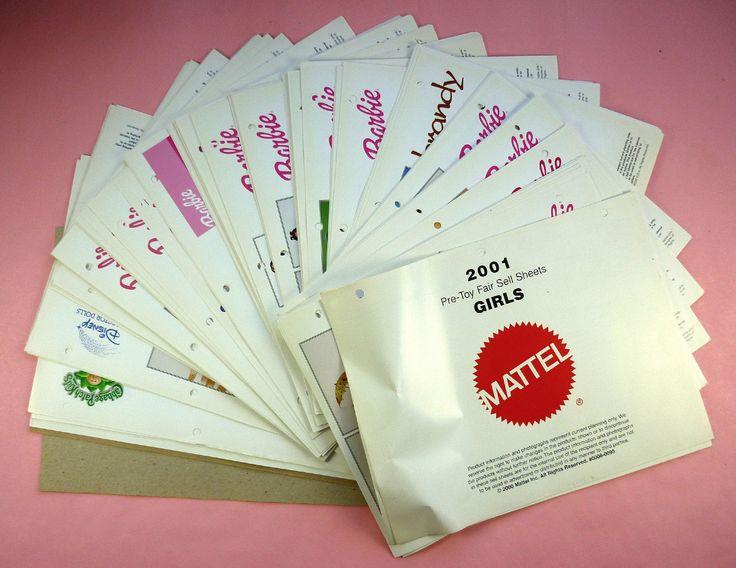 2001 Mattel Catalog Girls Toys Barbie Cabbage Patch Polly Pocket Disney Etc | eBay  Las hojas y catalogos de pocas hojas se incluyen en los productos o se regalan todo para el Marketing