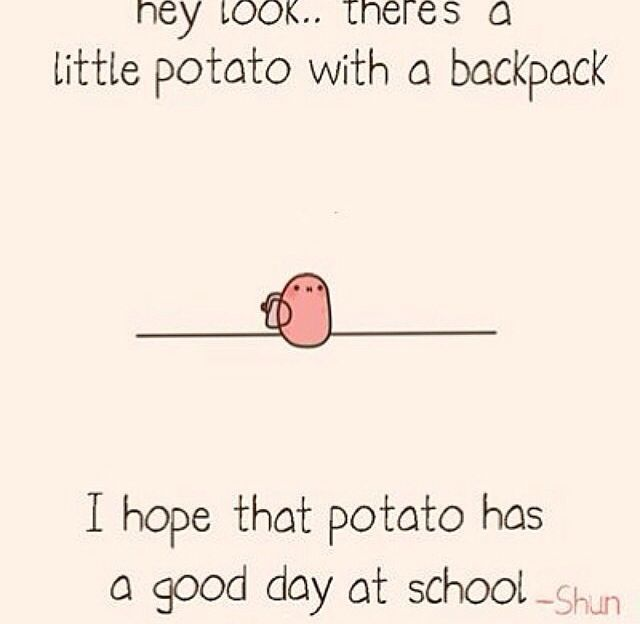 kawaii potato saying i love u - Google Search