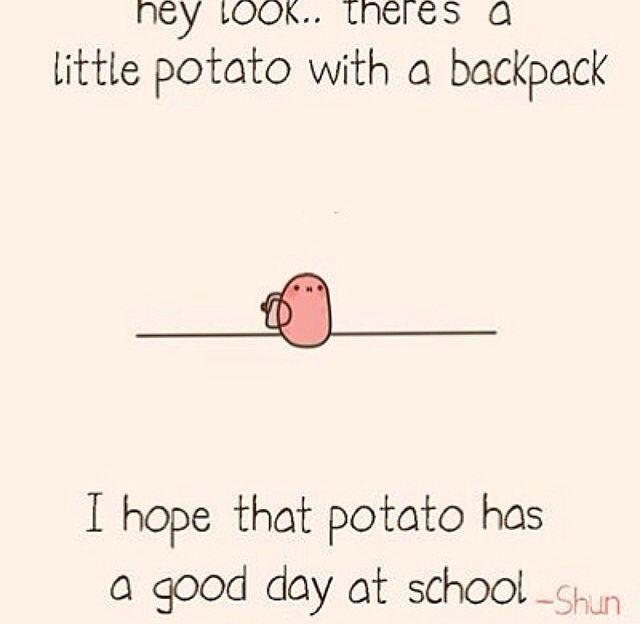 kawaii potato saying i love u - Google Search