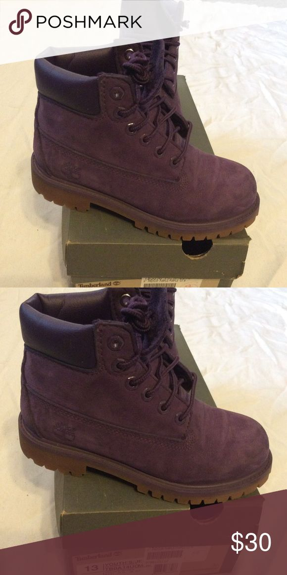 Youth Timberland Boots Slightly used Girl Youth Timberland Boots. Normal wear and tear. Excellent condition. Timberland Shoes Boots