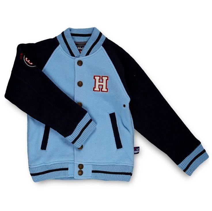 Himalaya Mountain baseball jacket :-) Teddy a manches longues contrastantes avec un col montant, 2 poches devant et logo et lettrage devant et au dos. Cette magnifique veste donne un look Americain high school! Ajoutez simplement un jean et des baskets montantes et voila - un look à la fois décontracté et hyper branché !