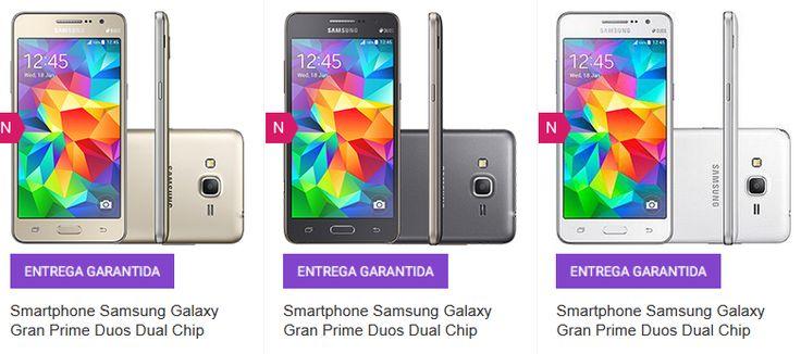"Samsung Galaxy Gran Prime Duos Dual Chip Android Tela 5"" 8GB 3G Câmera 8MP >"