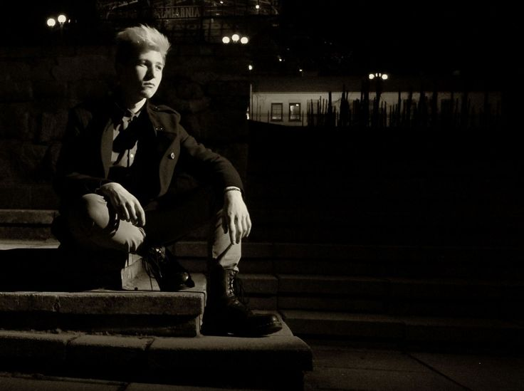 Night One Man Only One Person Men People Handsome Teenager Shadow Stones Stairs Boy Military Coat Martens Lamp Newlookfashion Autoportrait Portrait Sadness Foreway Darkness Monochrome Blond Hair City Evening