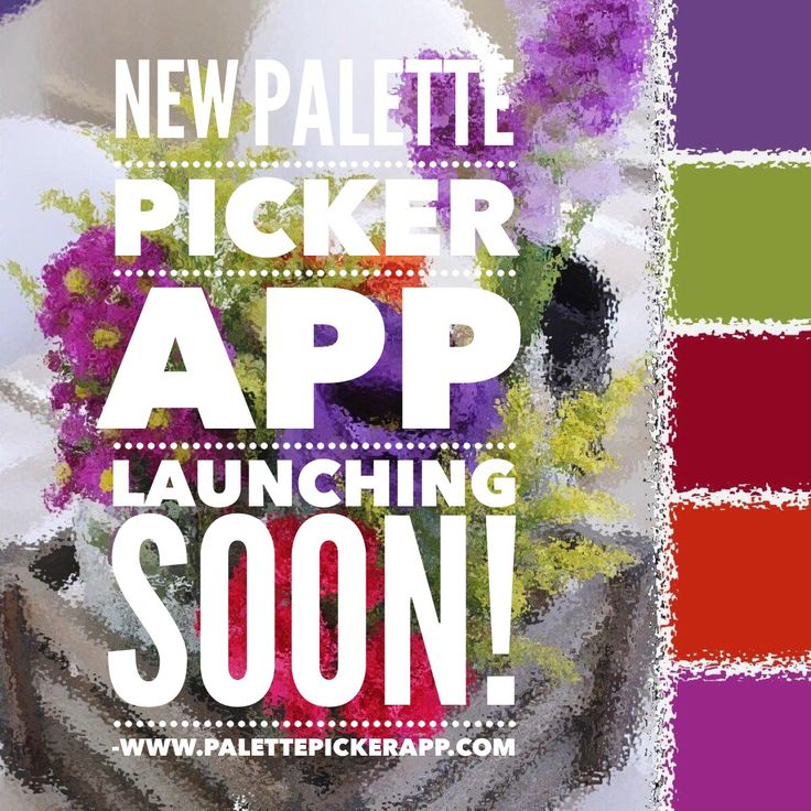 New Palette Picker App for iphone & ipad launching soon! The countdown is on! #PalettePicker #PalettePickerApp #ColourPalette #ColorPalette #colorinspiration #colourinspiration