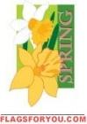 Applique - Spring Daffodils House Flag