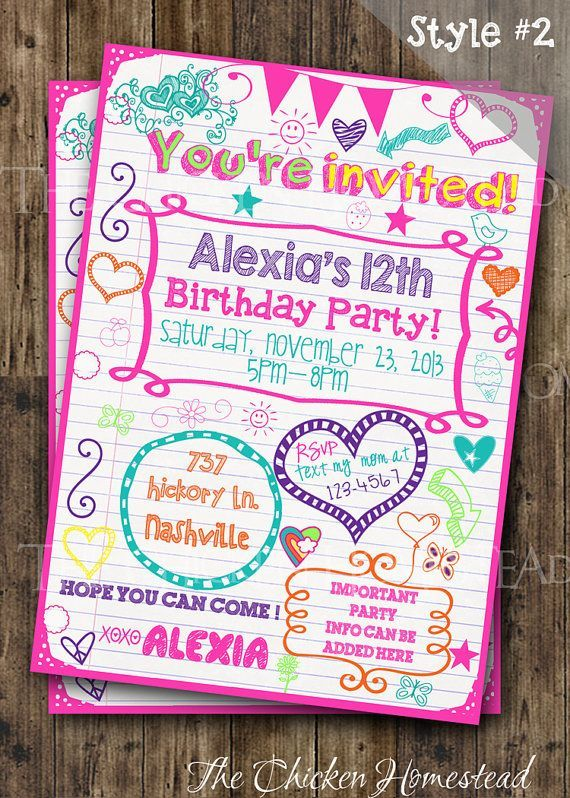 657 best BIRTHDAY INVITATIONS images on Pinterest Birthdays - best of birthday invitations sleepover party