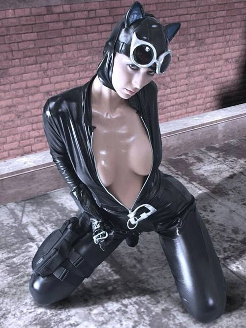 Sexy Catwoman cosplay
