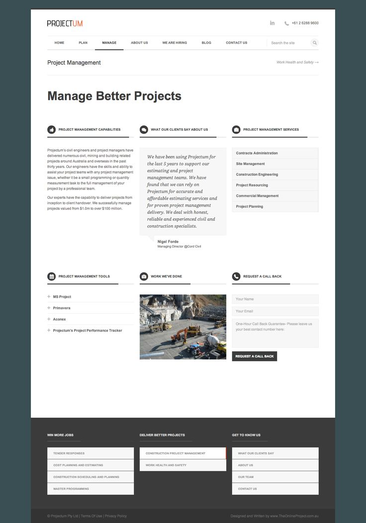 Project Management- Manage Better Projects- Projectum Australian Civil Engineering Consultancy