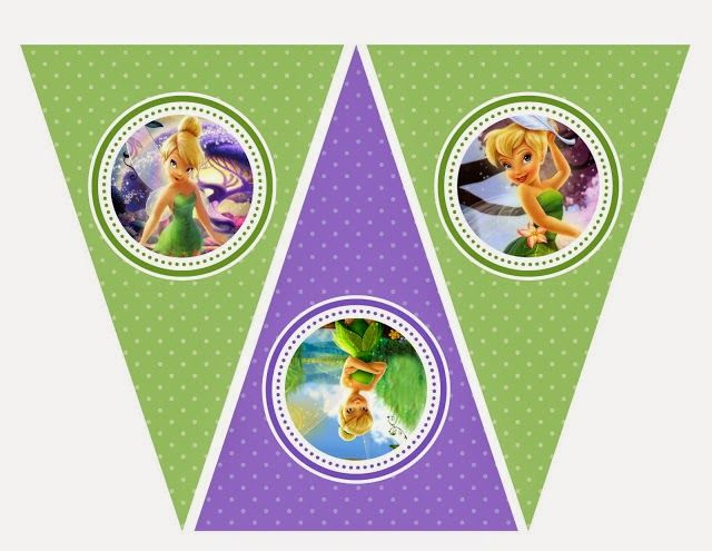 Tinkerbell Free Printable Bunting.
