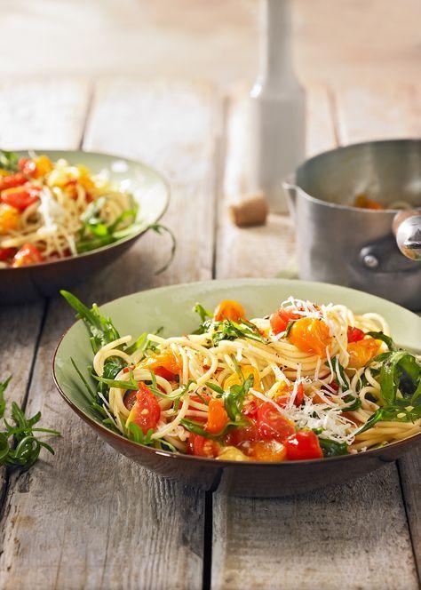 Pasta aglio e olio mit Rucula