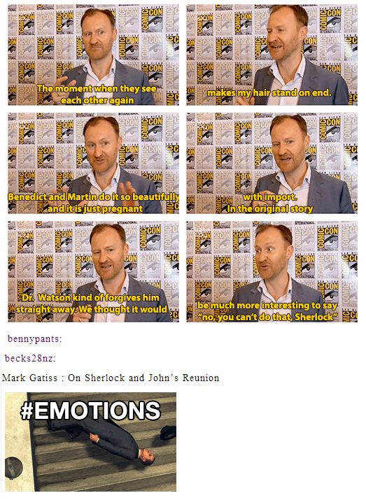 Sherlock & John's reunion. I am so excited for this, I cannot stand it. I want there to be so much emotion. I want John to be hurt, and angry and just utter disbelief that Sherlock could do that, and Sherlock to be astounded at how affected John was. Then I want John to understand why Sherlock made the choice he did, because he could not be the one left behind. he could not bury John.
