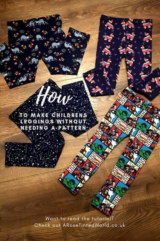 How To Make Childrens' Leggings Without Needing A Pattern – stretch jersey leggi…