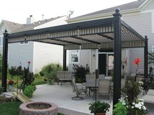 adding some kind of rectractableremovable awning to a pergola seems like a good way - Awning Ideas For Patios