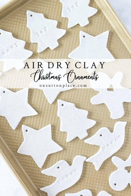 DIY Air Dry Clay Weihnachtsschmuck. Schritt für Schritt Anleitung mit Fotos. Diese…   – Ceramic ideas