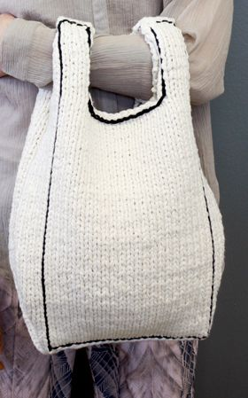 Tote bag knit - contest Novita Oy idea