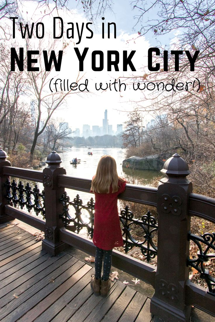 A perfect weekend getaway to New York City with kids. Wonder awaits!