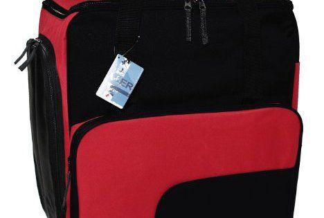 Sac à chaussures de ski. Sac à dos SUPER FUNCTION original HENRY BRUBAKER rouge/noir: Polyester 600 D, double revêtement PU - qualité…