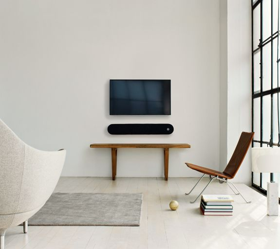 TV in minimalist living room