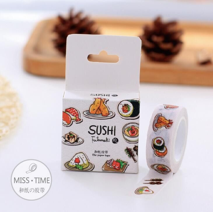 Just in to our Accessories collection! Kawaiiiii :3  Decorative Washi - Sushi Futomaki Tape DIY