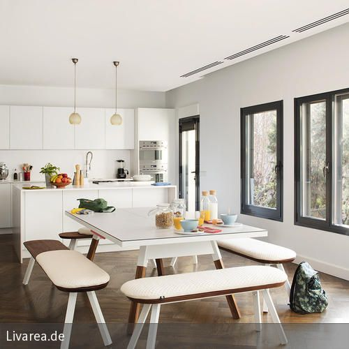 Esstisch und Tischtennisplatte in einem. Wir sind begeistert von so viel Spaß in der Küche! #kitchen #interior #esszimmer