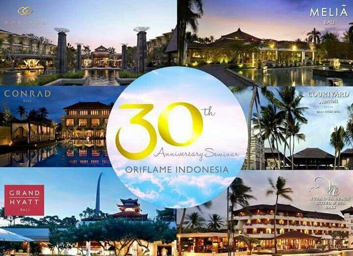 Senangnya akan di traktir menginap di salah satu hotel ini. Daan ternyata ada 6 hotel yg sdh disiapkan untuk Seminar Director 2016.  1. Conrad Bali 2. Courtyard by Marriot Bali 3. Melia Hotel Bali 4. Grand Hyatt Bali 5. Sofitel Bali 6. Nusa Dua Beach & Hotel Bali