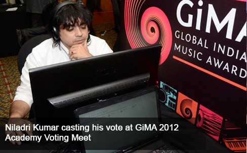 The third Chevrolet Global Indian Music Academy (GiMA) Awards kicked off the GiMA Voting Day & a special tribute to legends Jagjit Singh, Mehdi Hassan & Bhupen Hazarika, introduced by Prasoon Joshi, performed by Anup Jalota, Roopkumar Rathod & Papon. Personalities like Anup Jalota, Ila Arun, Jatin Pandit, Kunal Kohli, Lesle Lewis, Prasoon Joshi, Roopkumar Rathod, Swanand Kirkire, Taufique Quereshi & Udit Narayan attended.