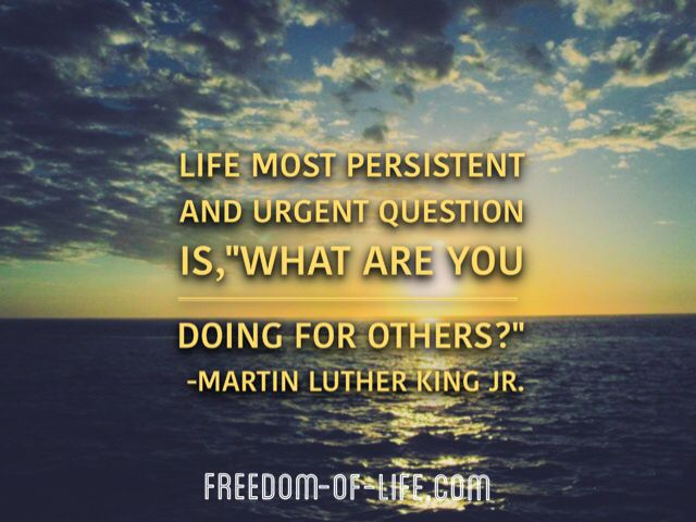 Be in the business of impacting lives! Inspiration from Martin Luther King Jr.