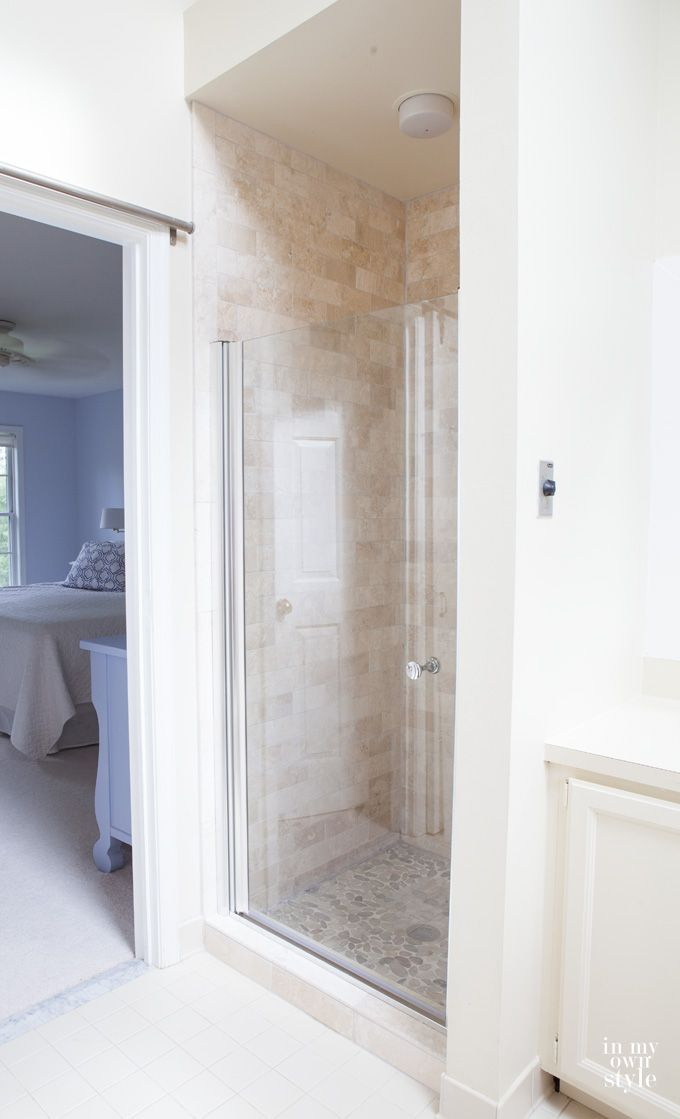 Need some inspiration for a bathroom. Check out this shower makeover that used discounted tiles from Floor & Decor. Now the bathroom looks and feels like a spa. | In My Own Style