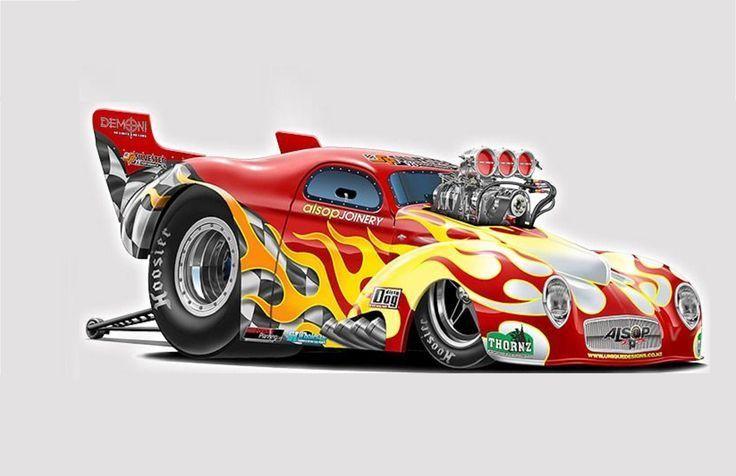 Drag Car Cartoon Drawings Cartoon Car Drawing Cool Car Drawings