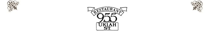 955 Ukiah Street Restaurant  Very amazing food, ambiance and don't forget the secret garden