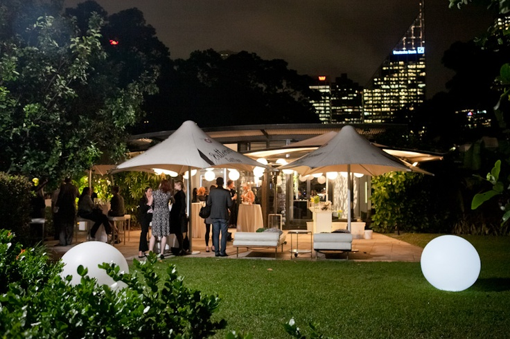 Situated in the Domain on the edge of Sydney's Royal Botanic Gardens, The Pavilion is an inviting venue boasting a leafy outlook, flexible outdoor terrace and deck areas, and views of the city skyline.  http://www.trippaswhitegroup.com.au