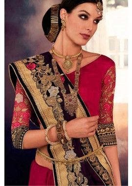 vin georgette, saree net, - 156,00 €, #ModeBollywood #TissuSariIndien #SariMariage #Shopkund                                                                                                                                                                                 Plus
