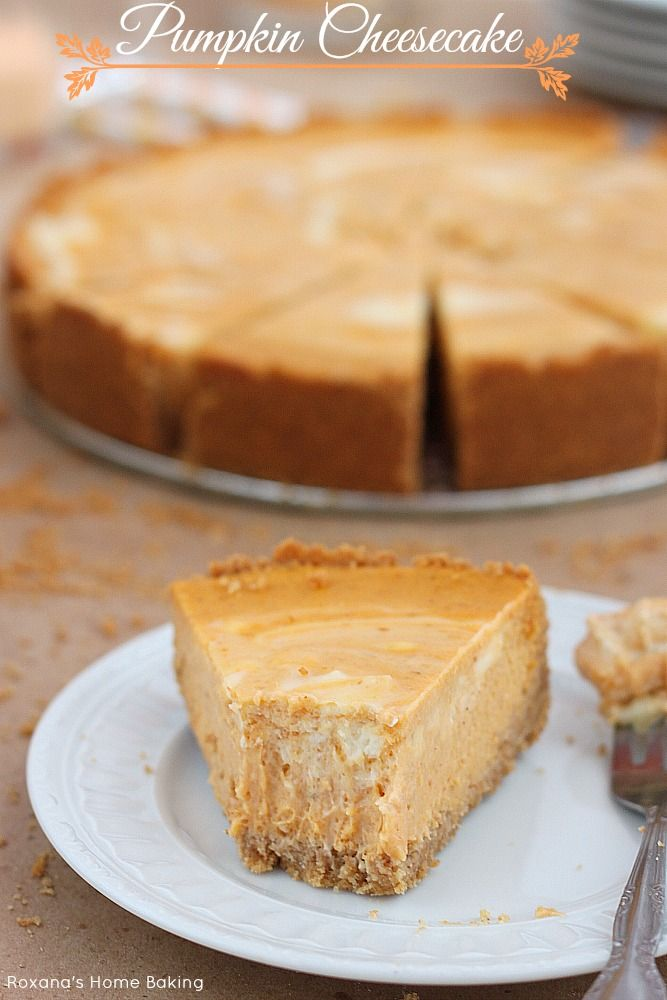 Pumpkin cheesecake, Cheesecake and Pumpkins on Pinterest