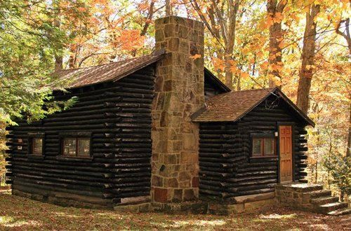 One of 20 log cabins at Herrington Manor State Park, Maryland
