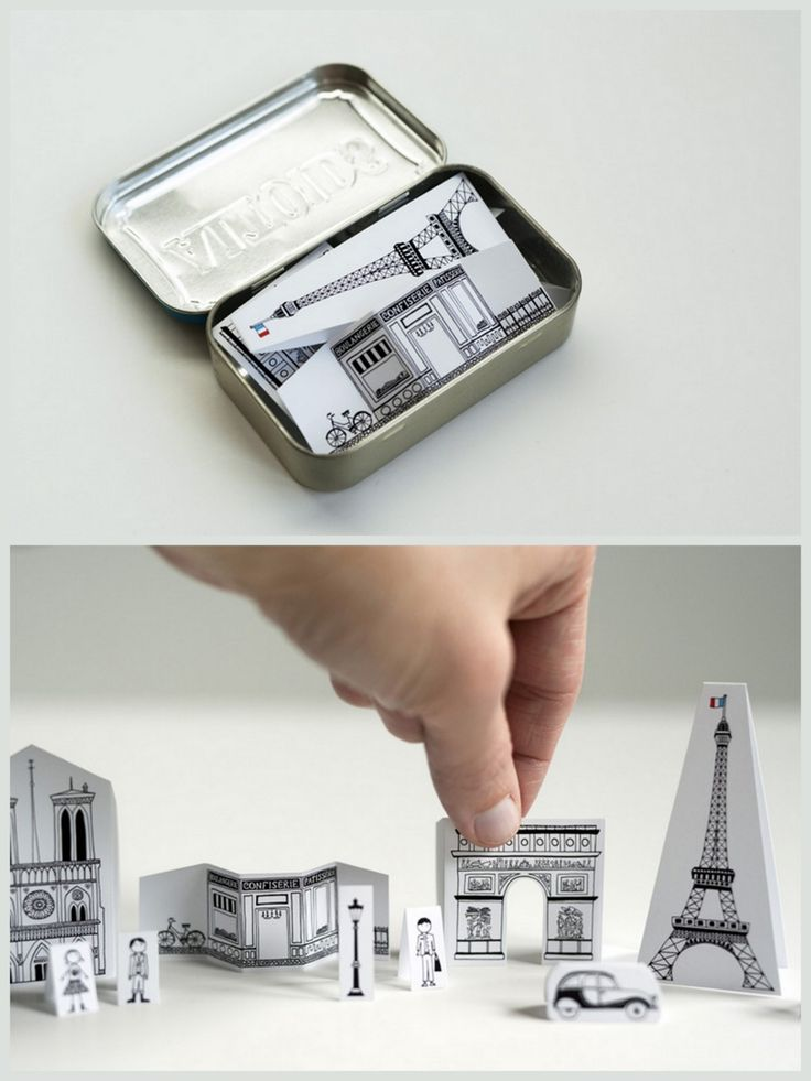 Mini city of Paris- @Toni Theisen, you'll like this!