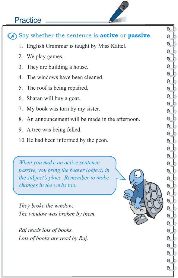 Grade 5 Grammar Lesson 12 Voice active and passive (3)