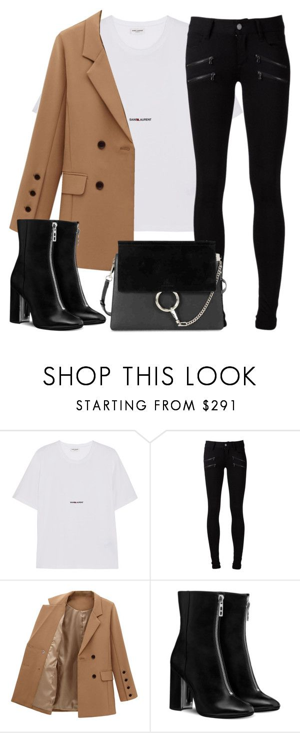 """""""Untitled #3238"""" by elenaday on Polyvore featuring Yves Saint Laurent, Paige Denim and Chloé"""