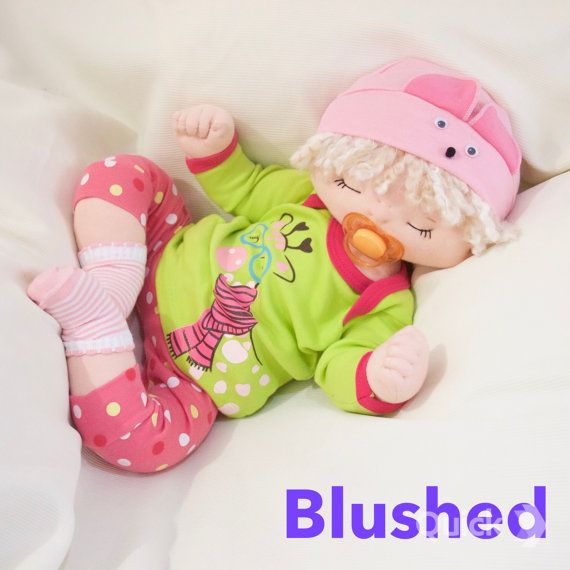 19 inch one of a kind baby doll made to order- soft sculpted custom baby doll- custom made soft cloth doll