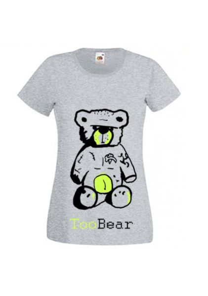 Hand painted shirt with really abd tempered bear : Etsy- Tooba Posters, Facebook- Tooba Posters : check out our pages :) #shirt #cloth #clothing #girl #woman #handmade #t-shirt #black #white #cool #nice
