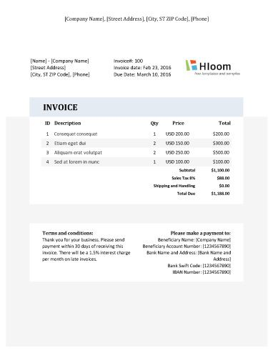 152 best Invoice Templates images on Pinterest Invoice template - samples of invoices for payment