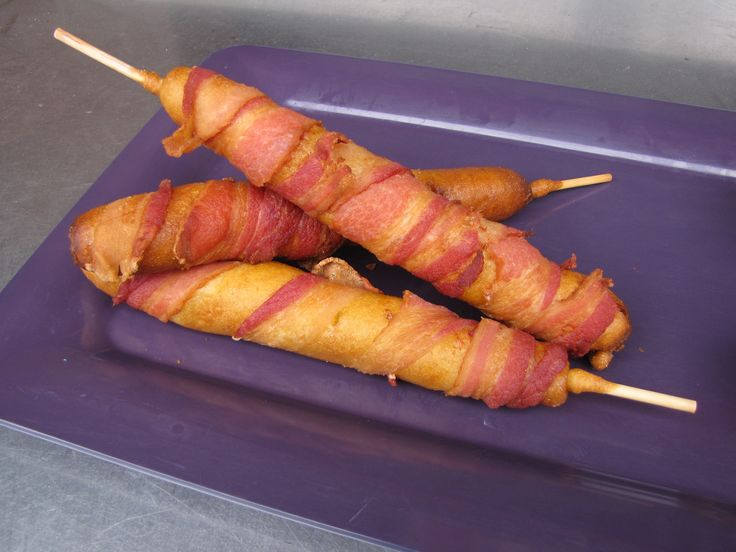 Bacon Wrapped Corn Dog!