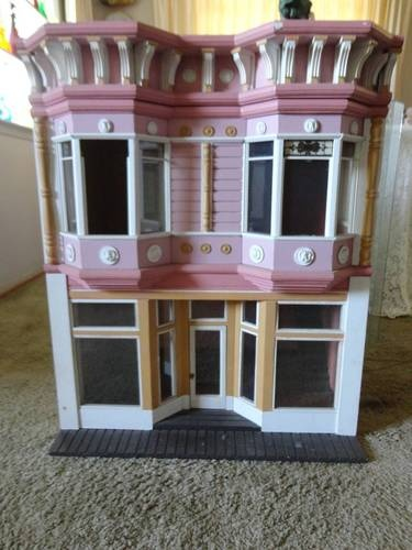 Antique Victorian Dollhouse Doll House Painted Lady