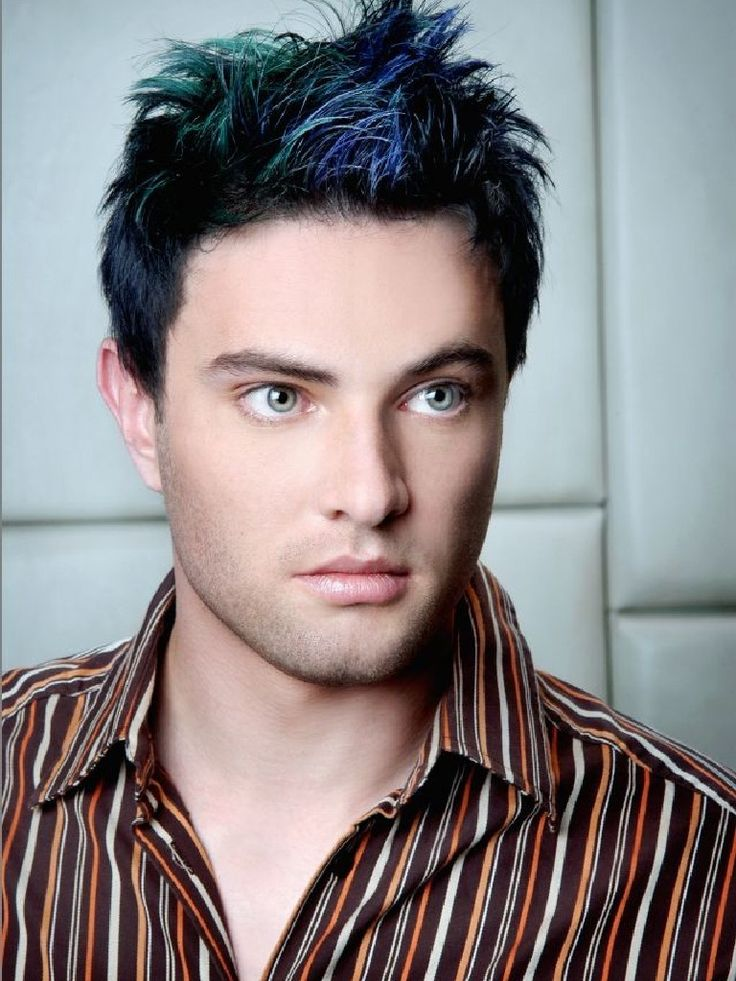 Modern Men Hairstyle With Blue Fringe