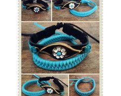 Conjunto de pulseiras de couro - olho